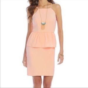 Gianni Bini Pink peplum Tisa Dress , Size 13 NWT